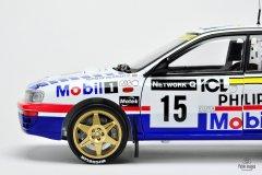 Subaru Impreza Hołowczyc / Wisławski Rajd Wielkiej Brytanii 1997 - model Sun Star w skali 1:18
