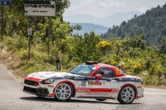 32 POLONSKI Dariusz (POL), SITEK Łukasz (POL), Team Rallytechnology, Abarth 124 Rally, action    during the 2020 Rally di Roma Capitale, 1st round of the 2020 FIA European Rally Championship, from July 24 to 26, 2020 in Rome, Italy - Photo Frédéric Le Floc'h / DPPI