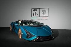 Lamborghini Sián Roadster w Muzeum Lamborghini