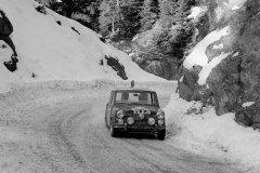 Paddy Hopkirk i Henry Liddon, Mini Cooper S, Rajd Monte Carlo 1964