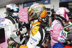 Jaxon Evans (NZ), Martinet by Almeras, Larry ten Voorde (NL), Team GP Elite, Dylan Pereira (L), BWT Lechner Racing, Porsche Mobil 1 Supercup, Spielberg 2021,