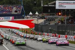 Start, Porsche 911 GT3 Cup, Jaxon Evans (NZ), Dylan Pereira (L), Larry ten Voorde (NL), Ayhancan Güven (TR), Porsche Mobil 1 Supercup, Spielberg 2021,