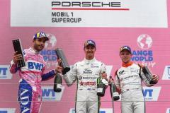 Dylan Pereira (L), BWT Lechner Racing, Jaxon Evans (NZ), Martinet by Almeras, Larry ten Voorde (NL), Team GP Elite, Porsche Mobil 1 Supercup, Spielberg 2021,