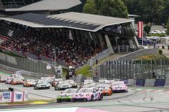 Start, Porsche 911 GT3 Cup, Jaxon Evans (NZ), Dylan Pereira (L), Larry ten Voorde (NL), Porsche Mobil 1 Supercup, Spielberg 2021
