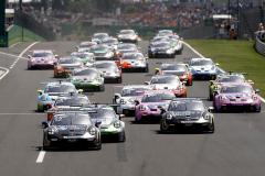 Start, Porsche 911 GT3 Cup, CLRT (#12), Marvin Klein (F), Martinet by Almeras (#20), Jaxon Evans (NZ), CLRT (#11), Florian Latorre (F), Porsche Mobil 1 Supercup, Budapest 2021