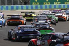 Start, Porsche 911 GT3 Cup, Lechner Racing Middle East (#5), Nicolas Misslin (MC), Parker Revs Motorsport (#18), Garry Findlay (GB), Porsche Mobil 1 Supercup, Budapest 2021