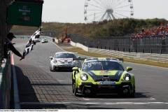 Porsche 911 GT3 Cup, Nebulus Racing by Huber (#29), Laurin Heinrich (D), Nebulus Racing by Huber (#28), Leon Köhler (D), Porsche Mobil 1 Supercup 2021, Zandvoort (NL),