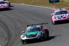 Porsche 911 GT3 Cup, Dinamic Motorsport SRL (#16), Simone Iaquinta (I), BWT Lechner Racing (#2), Ayhancan Güven (TR), Porsche Mobil 1 Supercup 2021, Zandvoort (NL)
