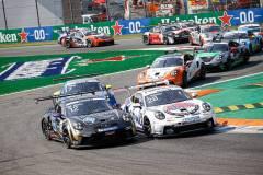 Porsche 911 GT3 Cup, CLRT (#12), Marvin Klein (F), Nebulus Racing by Huber (#28), Leon Köhler (D), Porsche Mobil 1 Supercup 2021, Monza (I)