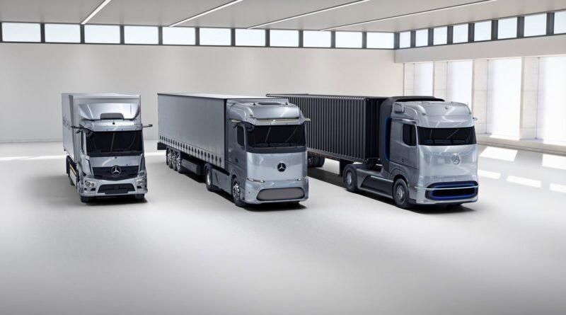Elektryczne ciężarówki Mercedes-Benz: eActros, eActros LongHaul i GenH2 Truck