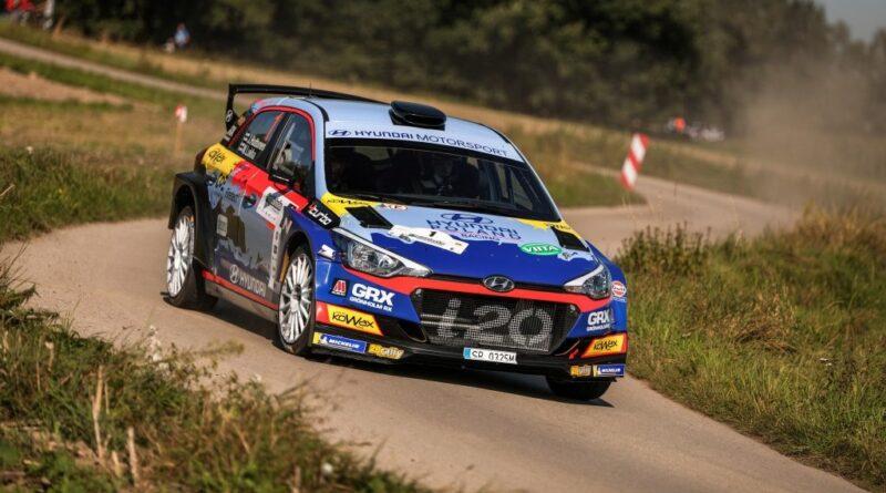 Jari Huttunen i Mikko Lukka (Hyundai i20 R5) zwyciężają w Rajdzie Śląska, RSMP 2020, foto: RSMP.pl