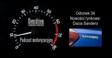 Podcast motoryzacyjny Overdrive | Odcinek 34 | Nowości rynkowe: Dacia Sandero