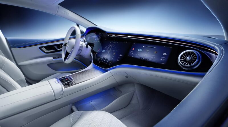 Mercedes EQS - zapowiedź nowatorskiego wnętrza