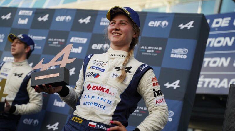 Gosia Rdest z trofeum w 2 rundzie w Alpine Europa Cup 2021