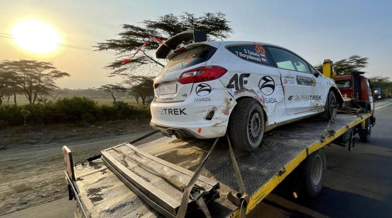 WRC Rajd Safari 2021. Pech Zasady tuż przed metą