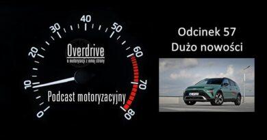 Podcast motoryzacyjny Overdrive | Odcinek 57 | Dużo nowości