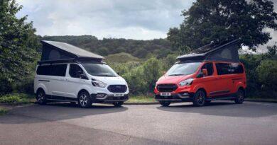 Kamper Ford Transit Custom Nugget w nowych wersjach Active i Trail